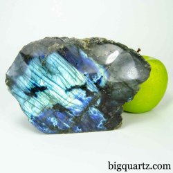 Labradorite Crystal Polished & Natural Faces (Madagascar #B444) 5.75 inches wide