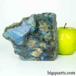 Labradorite Crystal Polished & Natural Faces (Madagascar #B445) 5 inches wide