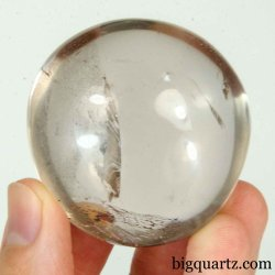 Smoky Quartz Crystal Palm Stone (Madagascar #B462) 1.75 inches