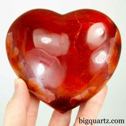 Carnelian Crystal Heart Sculpture (Madagascar #B490) 4 inches wide