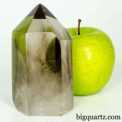 Smoky Quartz Crystal Point (Brazil #B496) 4 inches tall