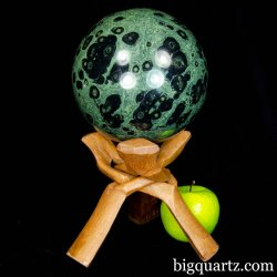 Large Kambaba Jasper Crystal Ball / Sphere (Madagascar #B508) 6 inches diameter, 13 pounds weight
