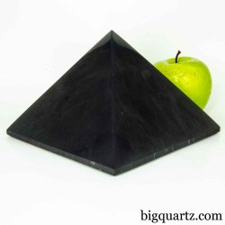 Extra Large Shungite Pyramid Sculpture (Russia #B526) 5.1 pounds weight