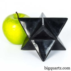 Large Shungite Merkaba Sculpture (Russia #B533) 1.4 pounds weight