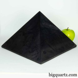 Extra Large Shungite Pyramid Sculpture (Russia #B608) 20 pounds weight
