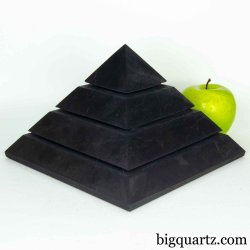 Extra Large Shungite Energy Pyramid Sculpture (Russia #B609) 10.6 pounds weight