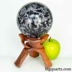 Indigo Gabbro Crystal Sphere,  4.3 inches diameter, 4.6 pounds weight (Madagascar #B628)