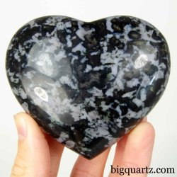 Indigo Gabbro Crystal Heart,  3.3 inches wide (Madagascar #B694)