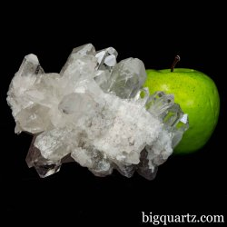Clear Quartz Crystal Cluster, 5.1 inches wide, 2 pounds  (Brazil #B728)