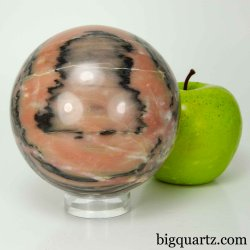 Pink Zebra Calcite Crystal Sphere, 3.75 inches diameter, 3.3 pounds  (Madagascar #B815)