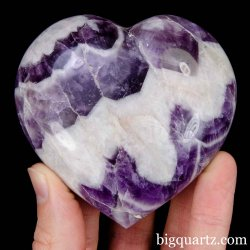 Chevron Amethyst Crystal Heart, 3 inches wide (Madagascar #B914)