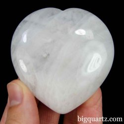 Azeztulite Crystal Heart, 2.1 inches wide (North Carolina #D161) *VIDEO*