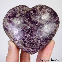 Lepidolite Crystal Heart, 3.5 inches wide (Madagascar #D374)