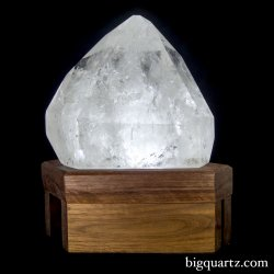 "Extra Large Polished Quartz Crystal on ""Points of Light"" Illuminated Stand (Brazil #5) 32.7pounds"