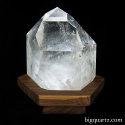 "Large Polished Quartz Crystal on ""Points of Light"" Illuminated Stand (Brazil #6721) 8.25 inches tall"