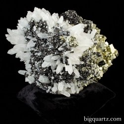 Large Quartz Pyrite and Sphalerite Crystal Cluster (Peru #8490) 51.4 pounds (SOLD)