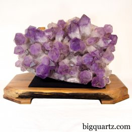 Amethyst Crystal Cluster w/ Wood Stand (Bolivia #8443) 92 pounds