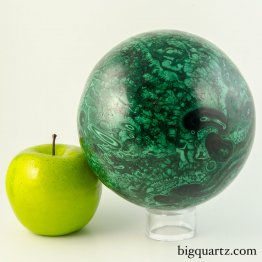 Large Malachite Crystal Sphere (Congo, #9189) 11 pounds