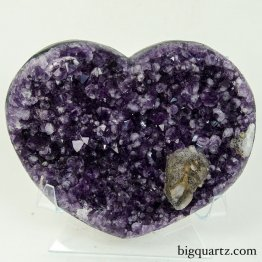 Amethyst Geode Heart (Uruguay, #9577) 6 inches wide