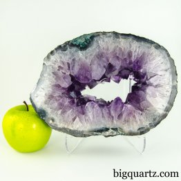 Amethyst Geode Slice w/ Agate Edges (Brazil, #A094) 6.1 pounds weight
