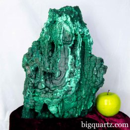 Botryoidal Malachite Large Mineral Specimen, 33.6 pounds, 13.5 inches tall (Congo #B885) *VIDEO*