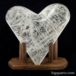 Clear Quartz Crystal Heart Bowl with Custom Stand (Brazil #6673) 5.1 pounds