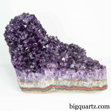Amethyst Crystal Geode (Uruguay #5231) 8.5 inches wideAmethyst Crystal Geode (Uruguay #5231) 7 inches tall