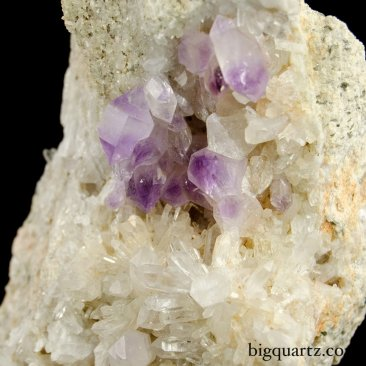 Amethyst and Quartz Crystals on Matrix from Jackson's Crossroads / JXR (Georgia, #8918) 3 pounds