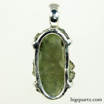 Moldavite Pendant in Sterling Silver (Czech Republic, #9522) 7 grams