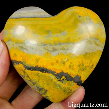 Bumblebee  Jasper Crystal Heart (Peru, #A310) 202 grams weight