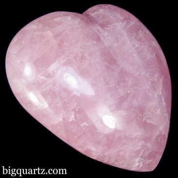 Large Rose Quartz Crystal Heart (Madagascar, A419) 10.5 pounds weight
