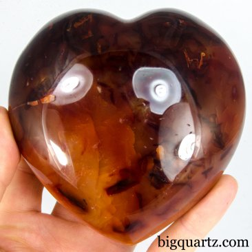 Carnelian Crystal Heart (Madagascar, A423) 1.8 pounds weight