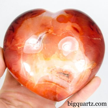 Carnelian Crystal Heart (Madagascar, A424) 2.2 pounds weight