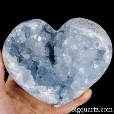Celestite Geode Heart (Madagascar, A425)  pounds weight