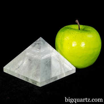 Clear Quartz Crystal Pyramid Sculpture (Brazil #A080) 1 pound weight