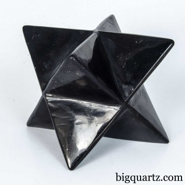 Shungite Merkaba Sculpture (#A381 Russia) 1.4 pounds weight