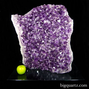 Large Amethyst Crystal Geode with Glass Base (Brazil #8603) 105.6 pounds