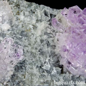 Old-Stock Amethyst, Calcite, Chalcopyrite, & Mica Natural Crystal Specimen (Karur, India #B048) 7.25 inches wide
