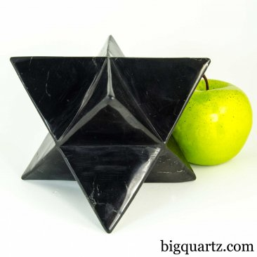 Extra Large Shungite Merkaba Sculpture (Russia #B532) 3.2 pounds weight