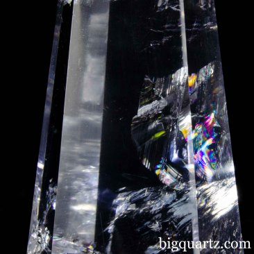 Clear Quartz Crystal Obelisk Sculpture, 7 inches tall (Brazil #B857) *VIDEO*