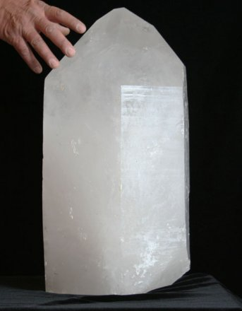 Extra Large Natural Quartz Crystal Point with Polished Faces (Brazil #37) 113.5 pounds