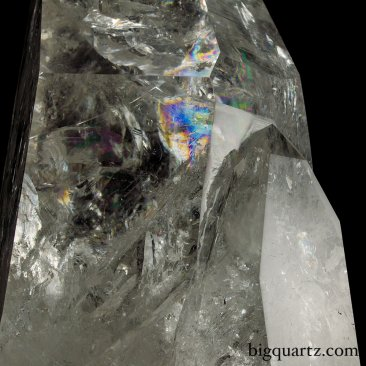 "Large Laser Quartz Crystal Point on ""Points of Light"" Illuminated Stand (Brazil #6810) 19.25 inches tall"