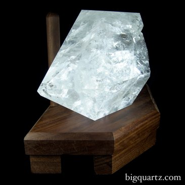 "Large Double Terminated Laser Quartz Crystal on ""Points of Light"" Illuminated Stand (Brazil #6827) 39.5 pounds (SOLD)"